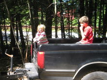 IMG 1261 The grand-kids love to sit in the back of Papas truck.