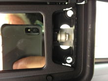 Vanity Mirror LED replacement, with homemade reflector.  front view