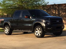"""2.5"""" leveling kit, 305/55/20 Trail Grapplers, 20% tint"""