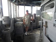 Control station on the USS Missouri