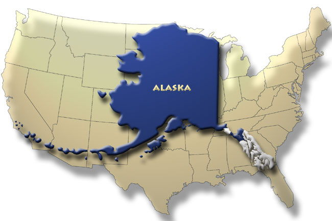 Map Of Alaska On Continental Us