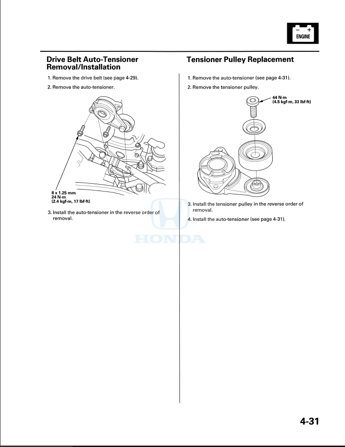 Serpentine Belt Replacement Unofficial Honda Fit Forums