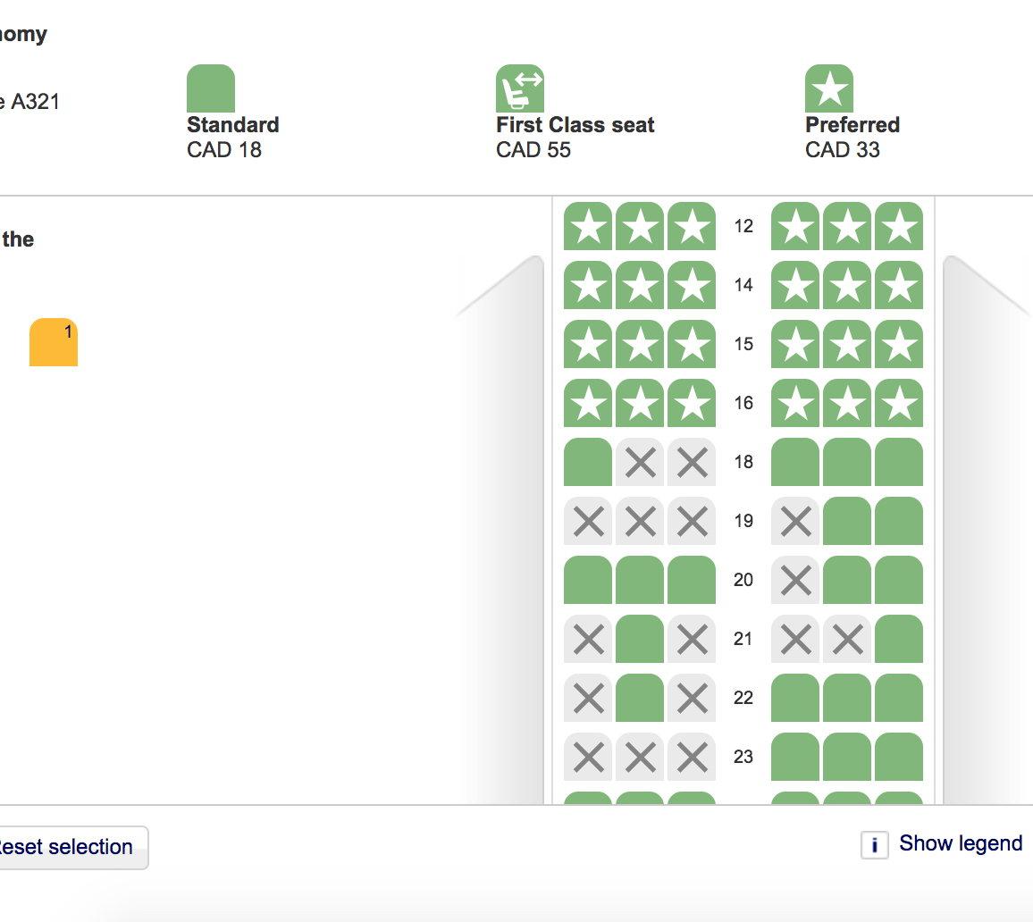 A321 Seat map -- Economy -- Row 11? - FlyerTalk Forums