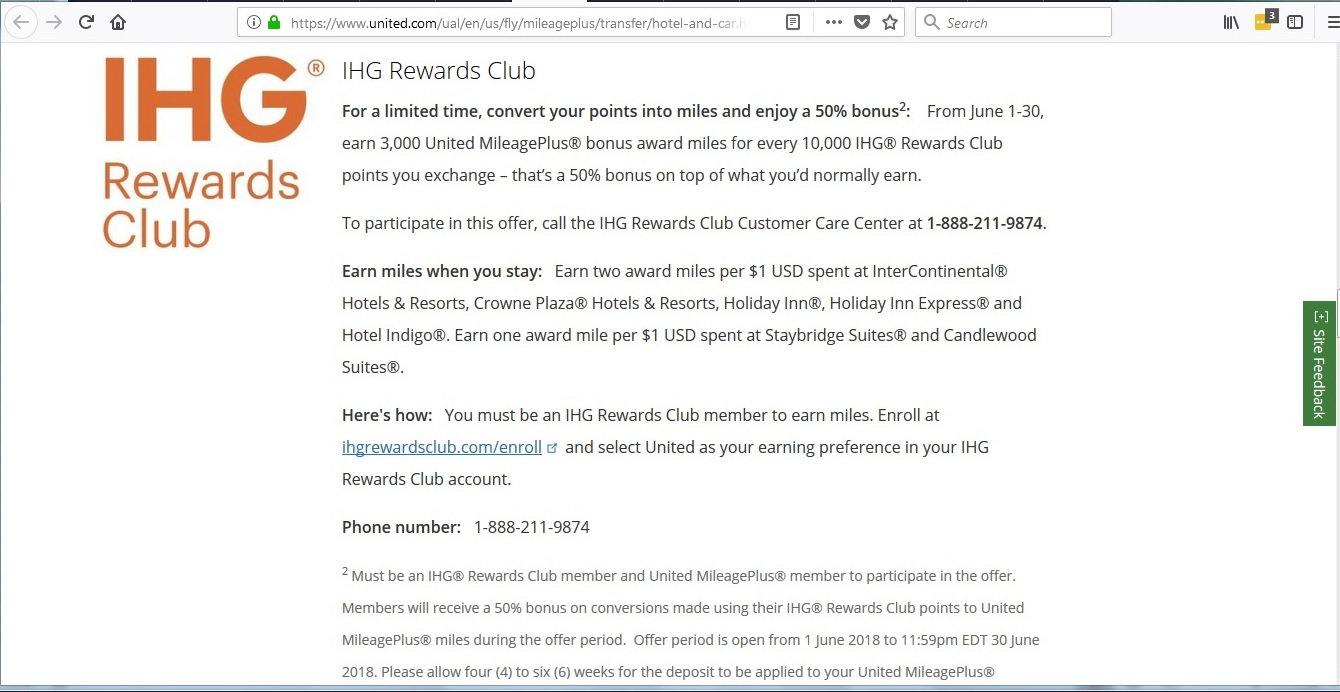 Buy UA miles for 1 66c (Purchase IHG pts w/bonus by 15 June