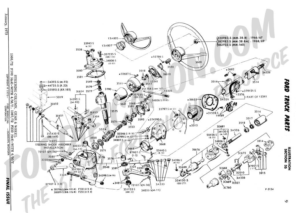 steering column assembly - ford truck enthusiasts forums 1989 ford f 150 steering column wiring diagram ford f 250 steering column wiring diagram