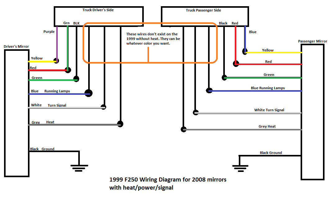 2008 Ford F250 Trailer Plug Wiring Diagram : Tow mirrors installed ford truck enthusiasts forums