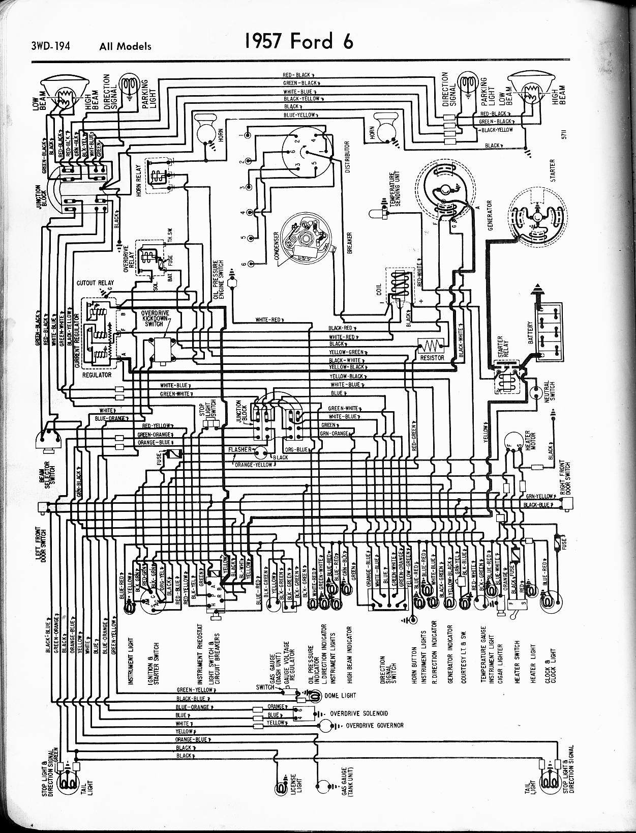 1957 Ford Truck Wiring Diagram