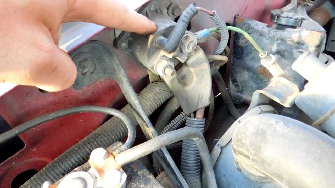 So I replaced my starter wires and battery ground - Ford ...