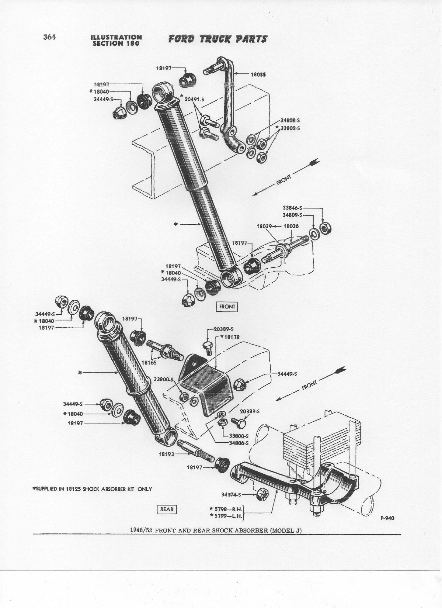 1950 f1 parts diagram - shock pins