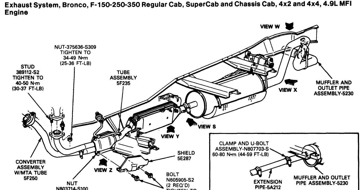 2004 Ford Escape Exhaust Diagram