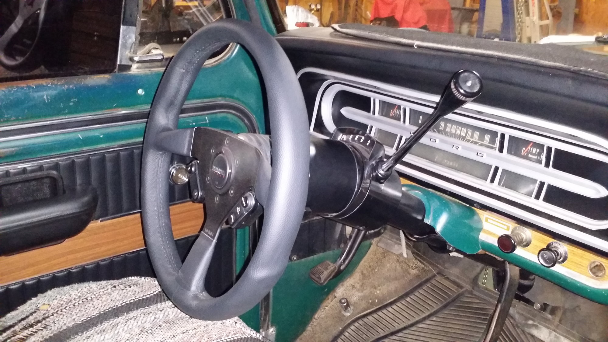Steering Column And Shift Linkage Ford Truck Enthusiasts Forums Dash Wiring Harness Connectors I Was Able To Use My Existing 69 F100 Between The C 4 Tilt