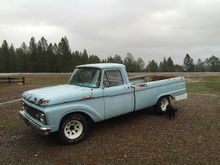 1964 F-100 long bed.  The work truck to help get the old '56 back together.