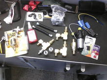 Various HIH and fuel line fittings plus aux coolant pump added to Vegistroke V3 system