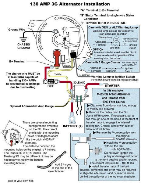 Ford 1g Alternator Wiring - Wiring Diagrams