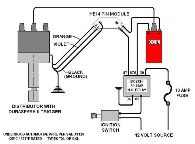 hei ignition conversion (pre-project) - ford truck ... only 4 pin gm hei distributor wiring diagram gm hei module wiring diagram 1994