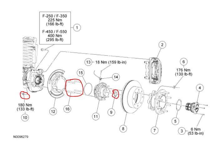 2012 F250 4x4 Wheel Hub Removal