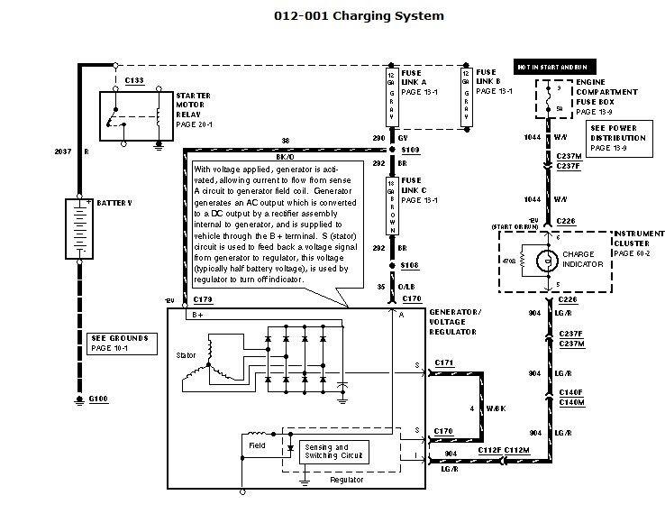1999 6 8 E350 Rv- New Alternator Not Charging
