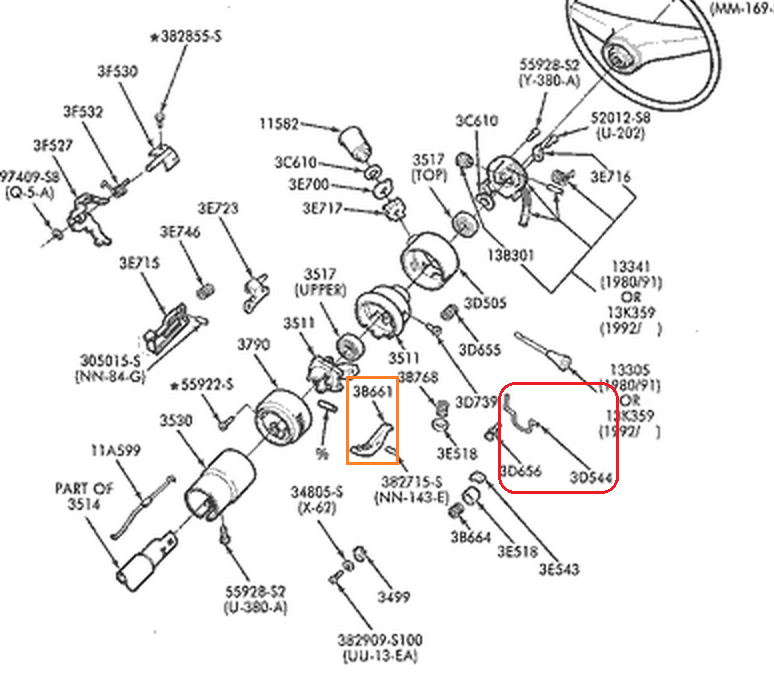 ford f 150 steering column diagram tilt steering column slips up and down ford truck enthusiasts forums  tilt steering column slips up and down