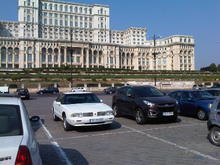 The Olds at the Parliament Palace, Bucharest, Romania