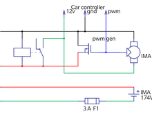 Harness schematic with relay