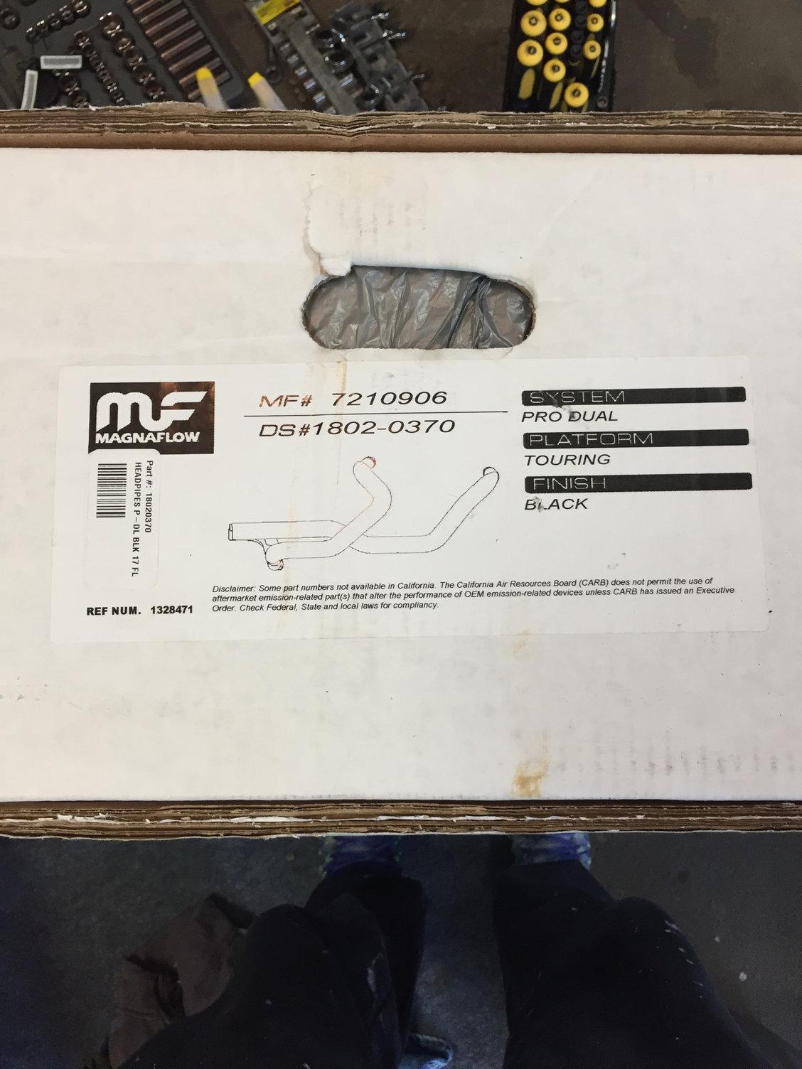 "Brand New Black Magnaflow true duals - Hitman 4 5"" mufflers"