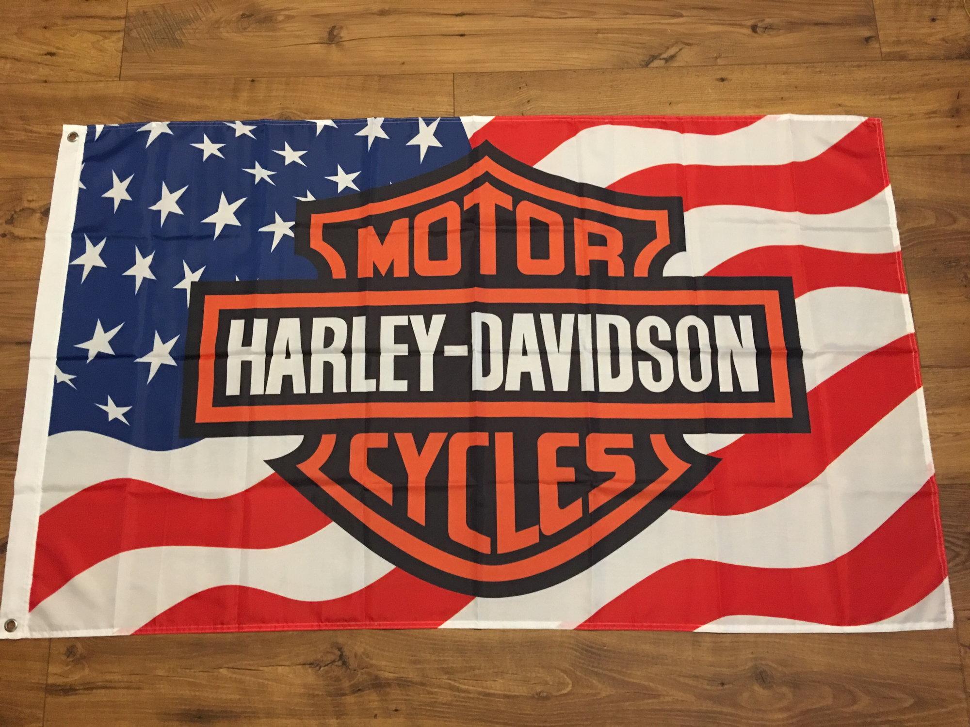 Harley davidson 3x5 flag