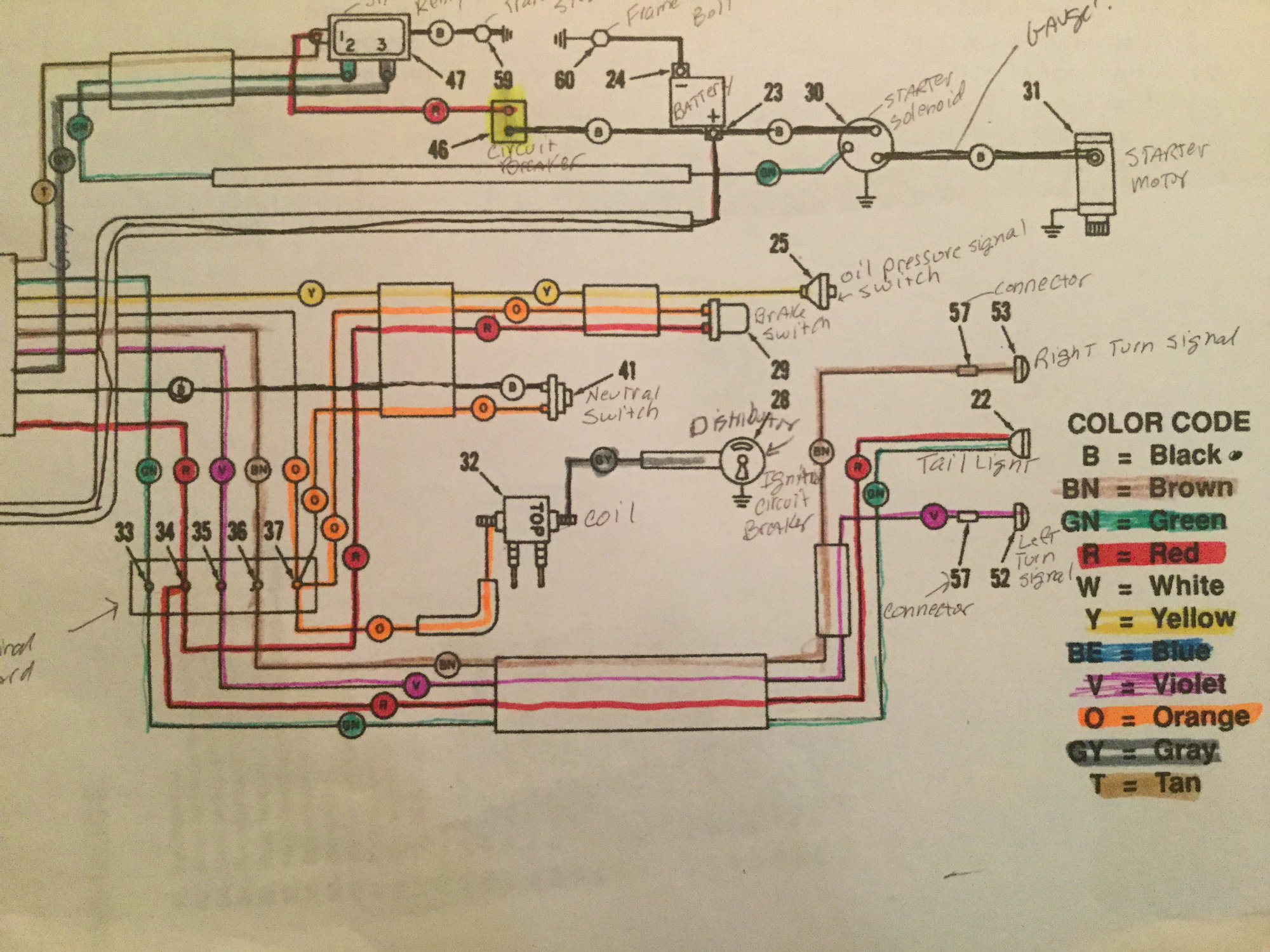 shovelhead instrument wiring diagram wiring schematics diagram rh mychampagnedaze com 66 Mustang Dash Wiring Diagram 1993 Jeep Dash Light Wiring