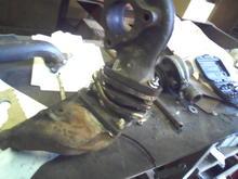 turbo mounting plates (homemade)