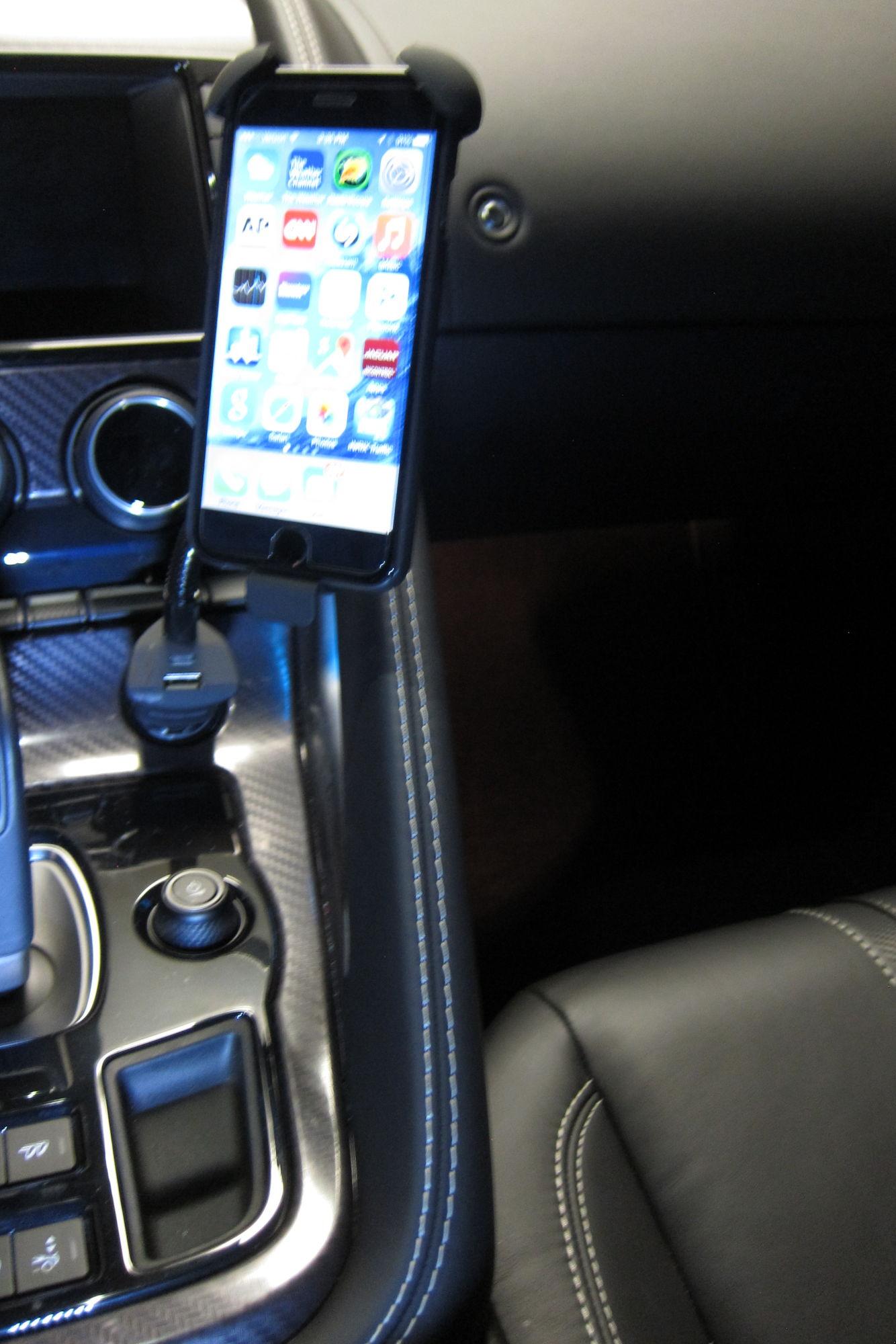 Phone holder for F Type Page 2 Jaguar Forums Jaguar