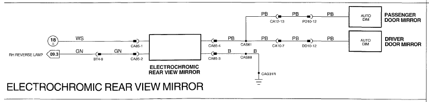 Help Matching Wire Colors For Replacement Rearview Dimming Mirror - Magna pump wiring diagram