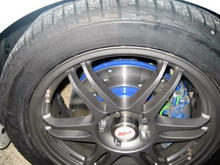 """IMG 2042 Cross-drilled rotors and EGC """"Green"""" Stuffs"""