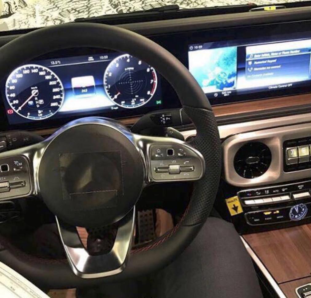 New 2019 G-Class W464 Interior Spy Shots