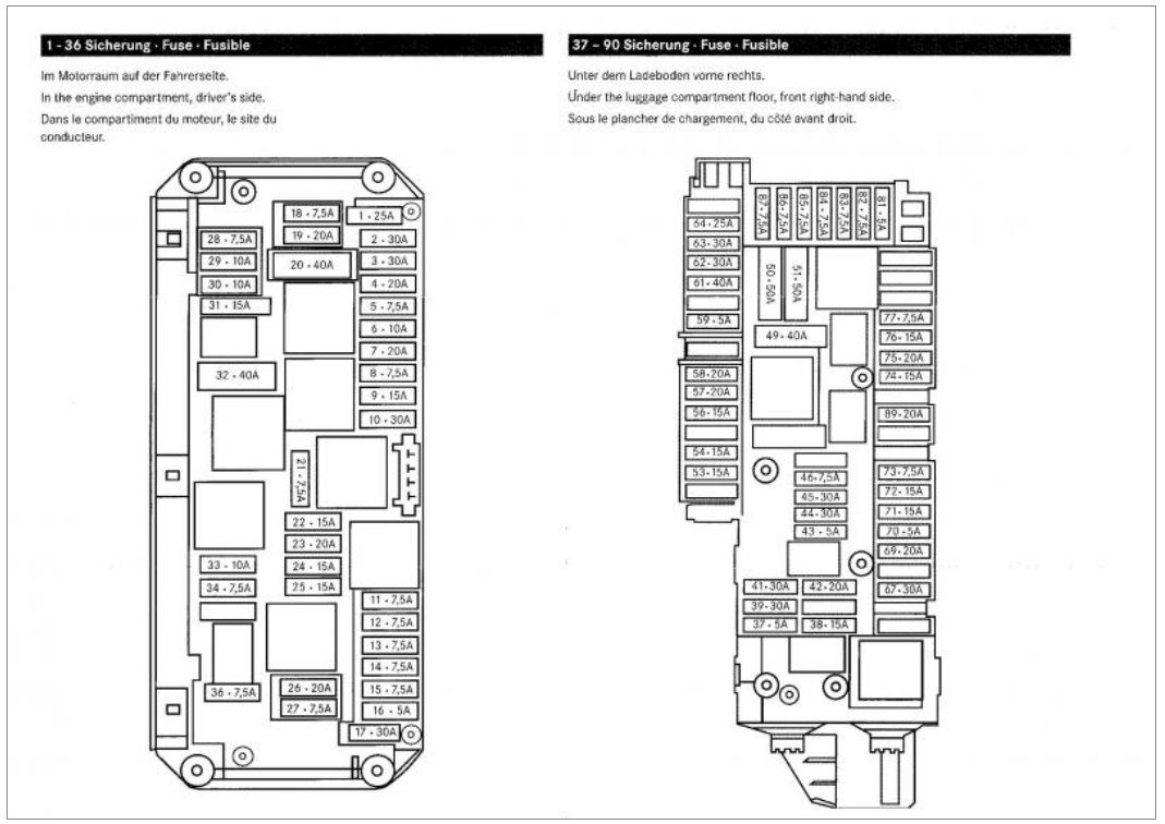 Mercedes Benz S430 Fuse Box on mercedes c240 fuse box diagram