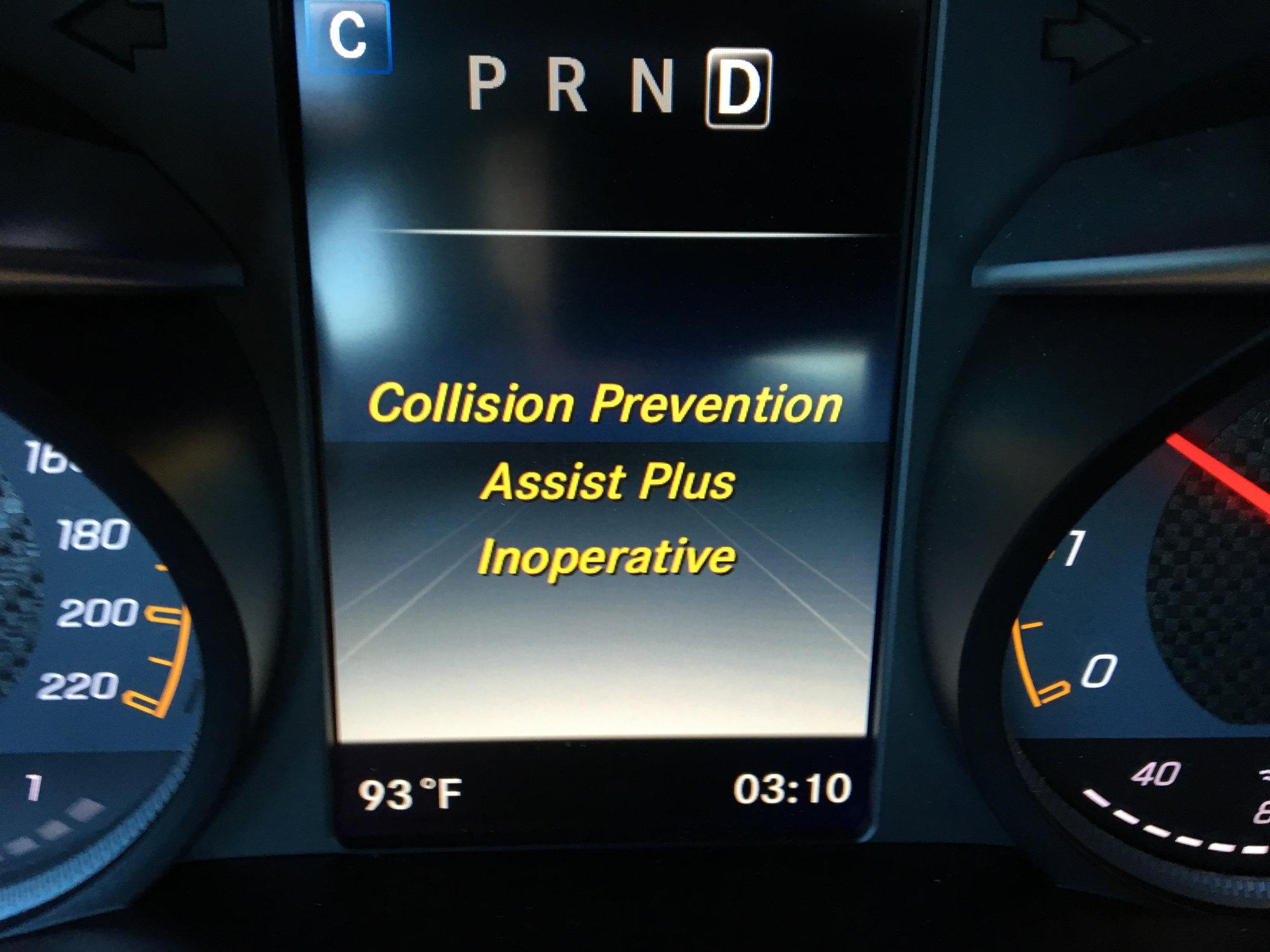 Collision Prevention Assist Plus Inoperative Mbworld Org
