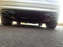 CLK 55 Quad OEM Exhaust   Diffuser