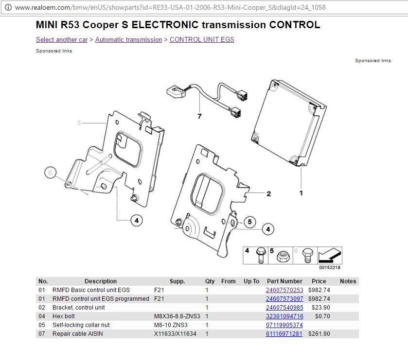 Location Of Tcu  Tcm Module