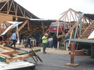 truck and shop after tornado