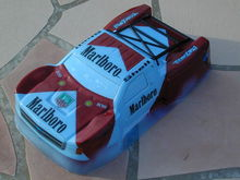 JConcepts Illuzion 2012 Silverado 1500 Hi Flow painted by Chris Moore of CMDezigns. Blue film & window masks not removed yet.