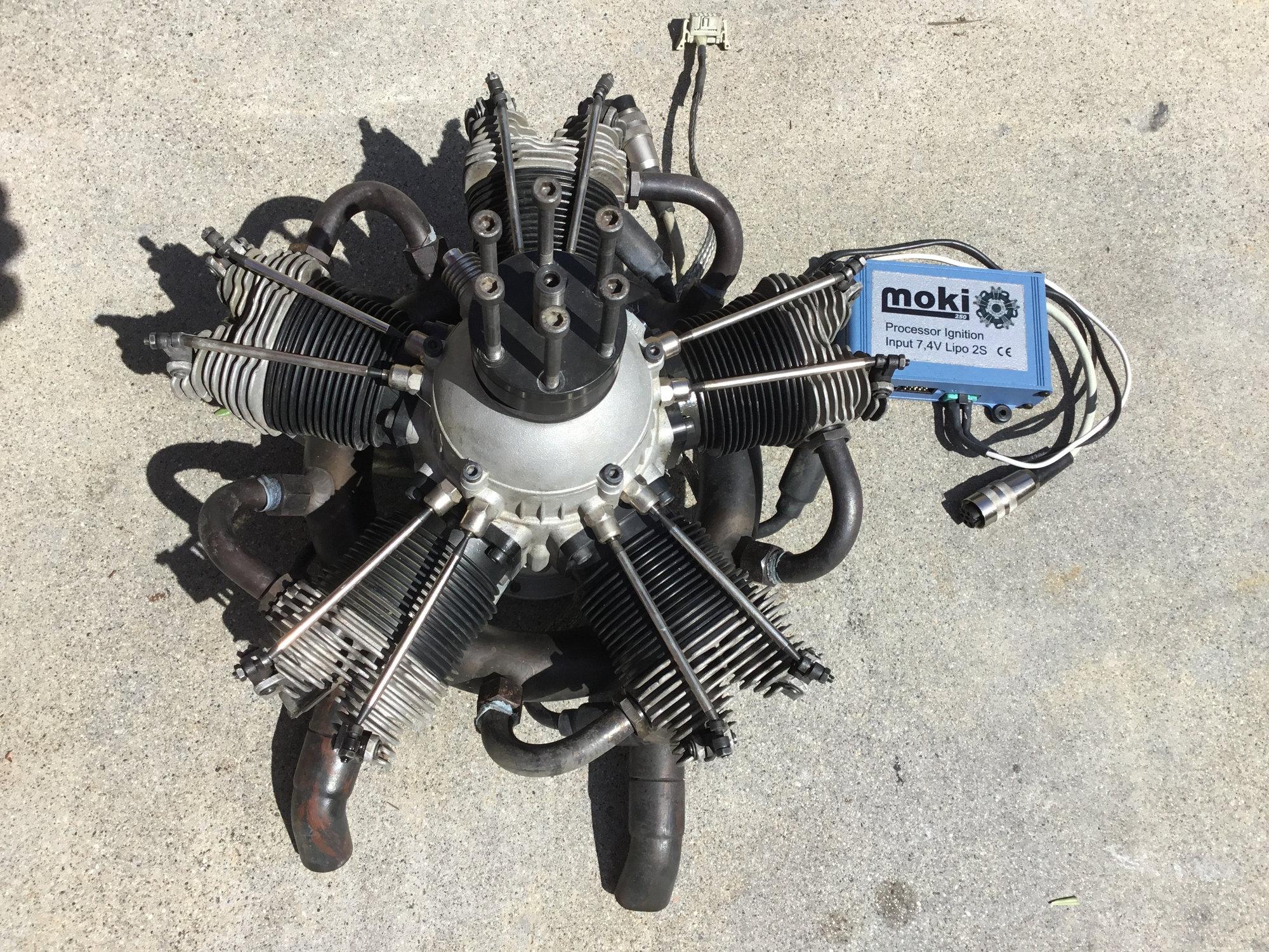 Moki 215 5-Cylinder Radial Engine w/ Updated Blue Box