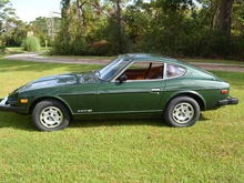 I had one of these 1977 Datsun 280Z green with black interior and regretted selling this