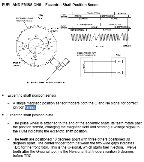 Eccentric Shaft Position Plate Orientation - RX8Club com