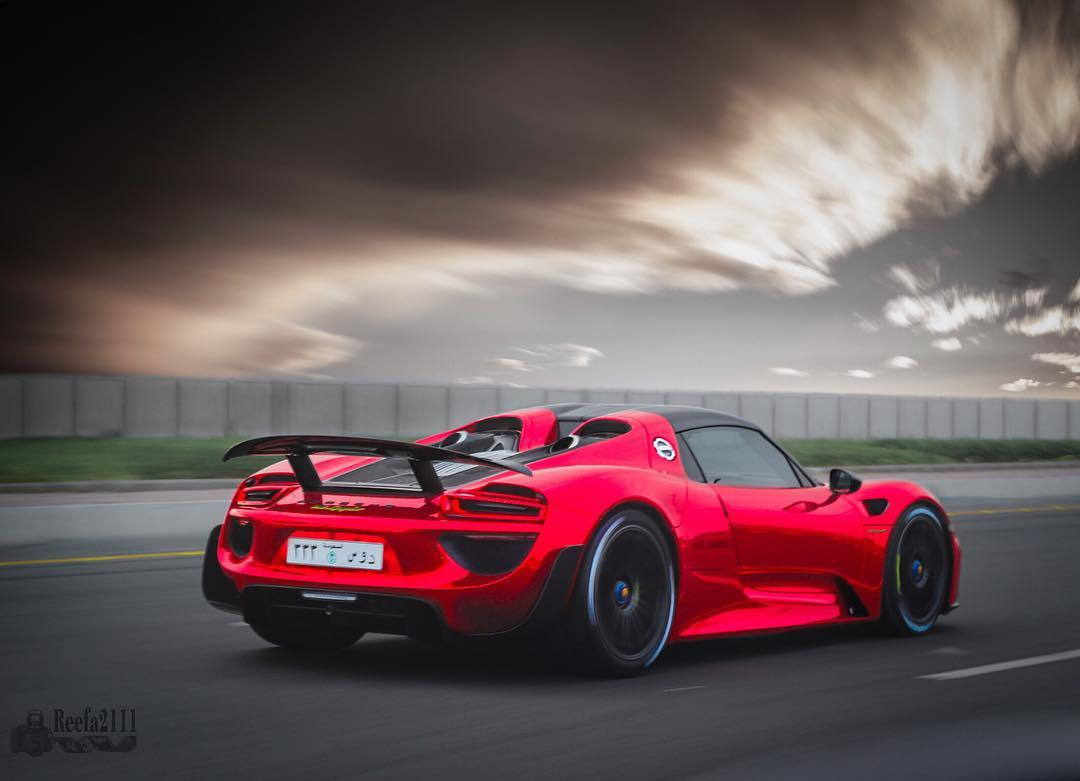 red porsche 918 spyder weissach taken in jeddah saudi arabia awesome by reefa2111