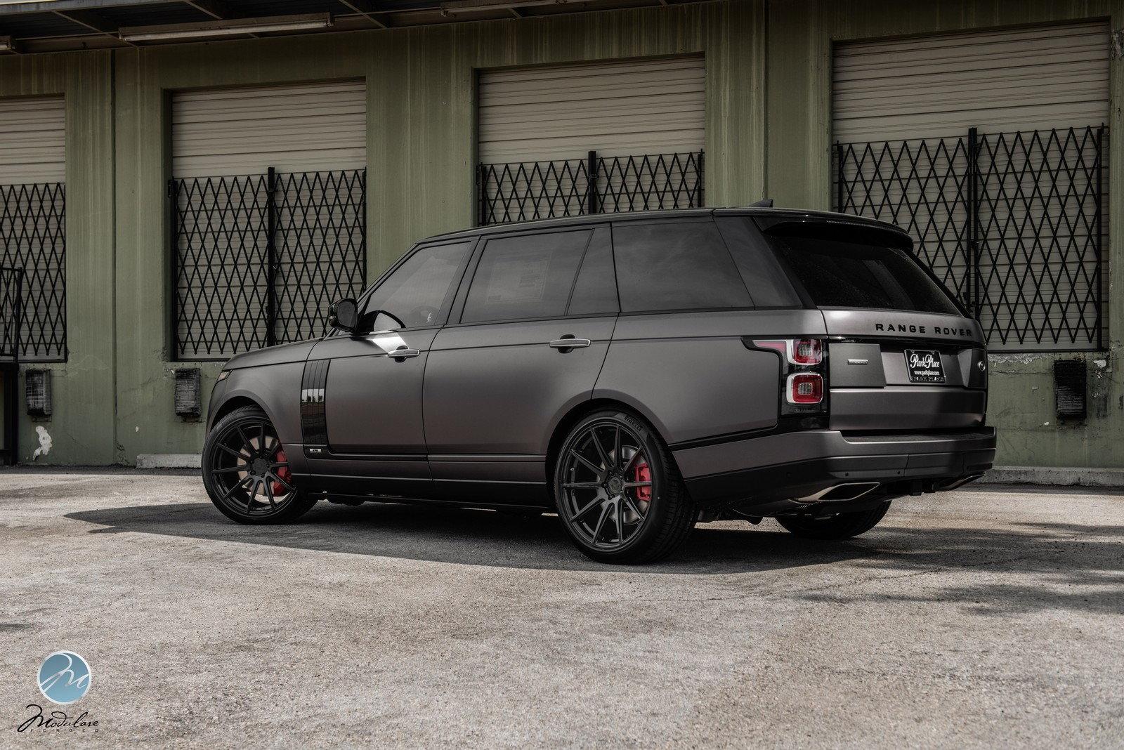 "How To Measure Wheel Base >> 2018 Range Rover LWB Matte Grey | 22"" Modulare B15 - Teamspeed.com"