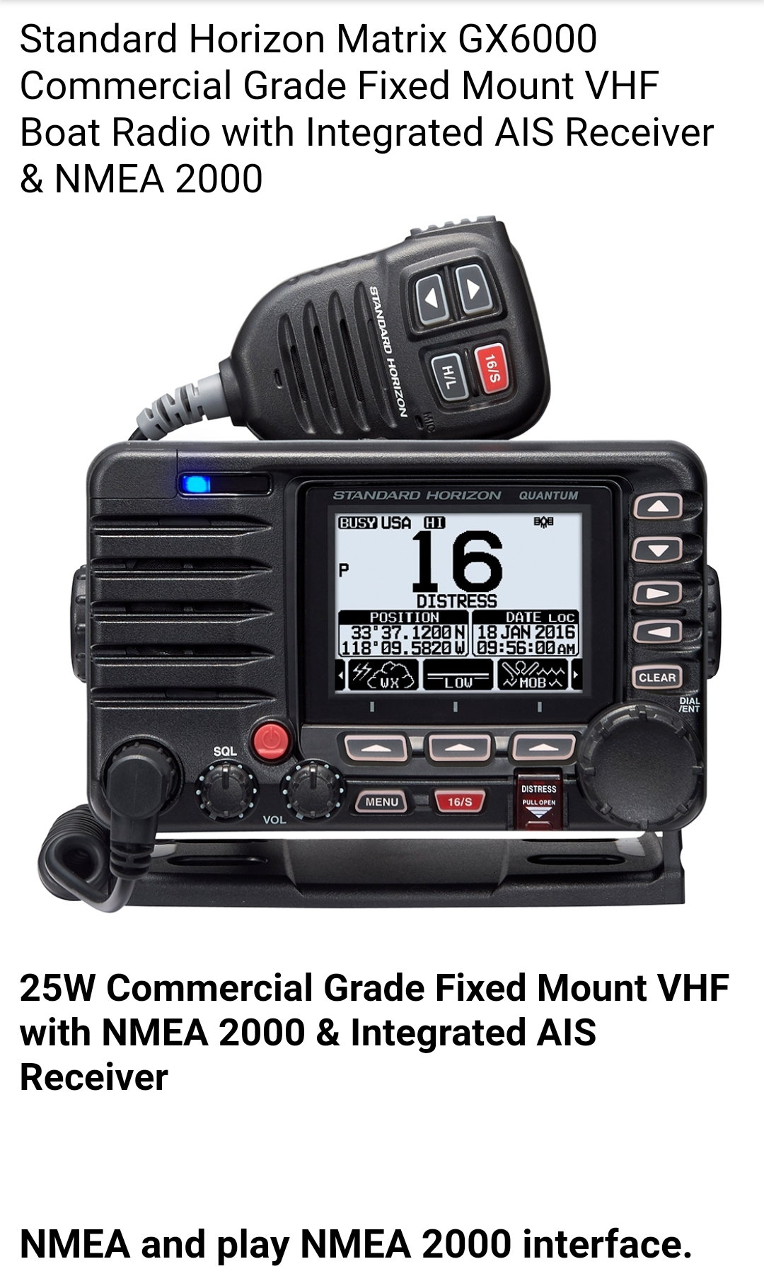 Is it possible to put a Military type radio on a fishing boat