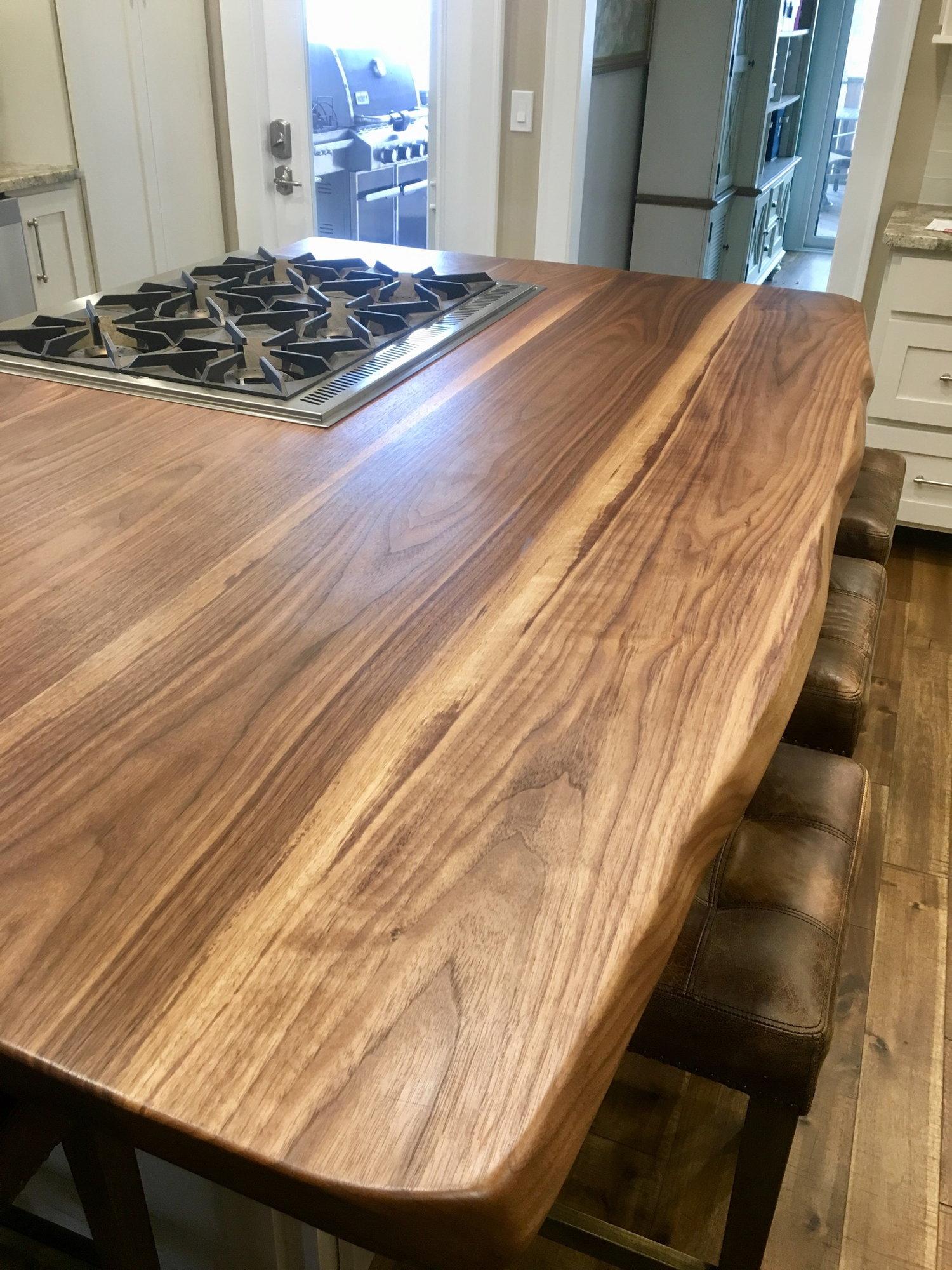 Granite Or Live Edge Slab Wood