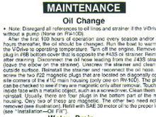 V Drive Maintenance