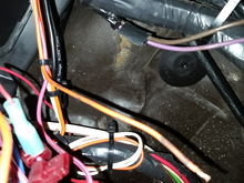 Ir runs with a pink wire with a black stripe another orange wire and a white wire.