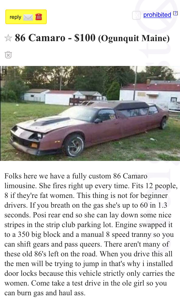 Camaro Limo Come On Guys Third Generation F Body Message Boards