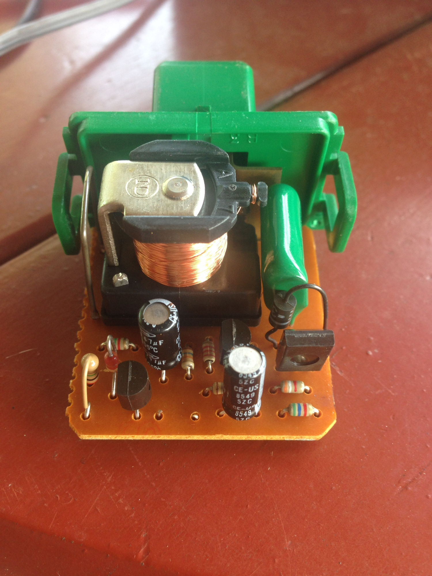 You can remove the bottom center resistor in the factory relay as shown here to stop the hyper flashing