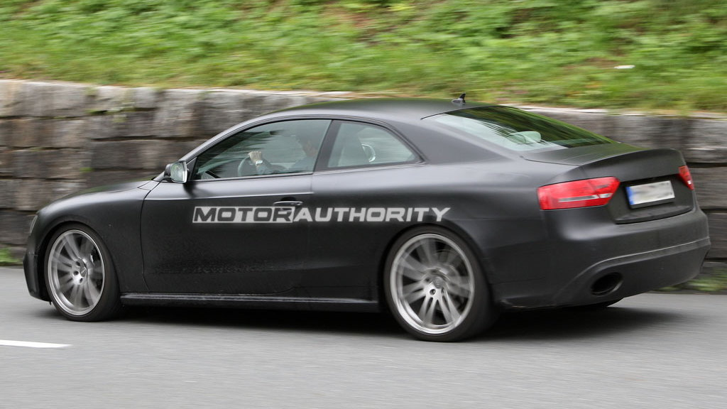 Audi RS5 Spy Shots: Testing in the Alps